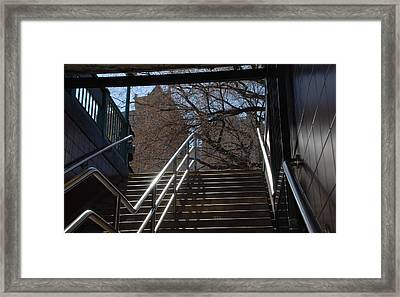 Subway Stairs Framed Print by Rob Hans