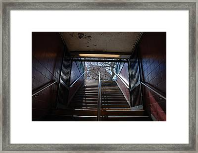 Framed Print featuring the photograph Subway Stairs To Freedom by Rob Hans