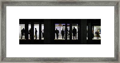 Subway Stories Framed Print