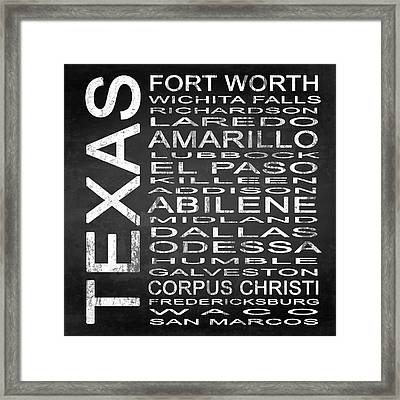 Subway Texas State 2 Square Framed Print
