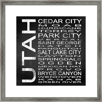 Subway Utah State Square Framed Print