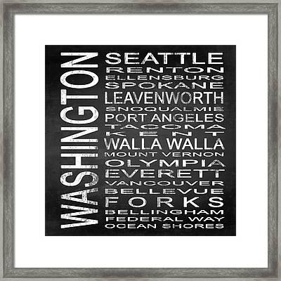 Subway Washington State Square Framed Print by Melissa Smith