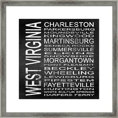 Subway West Virginia State Square Framed Print by Melissa Smith