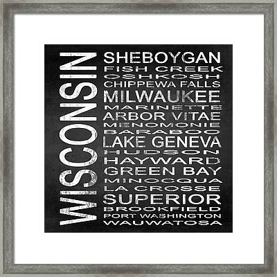 Subway Wisconsin State 2 Square Framed Print