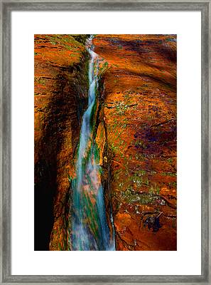 Subway's Fault Framed Print by Chad Dutson