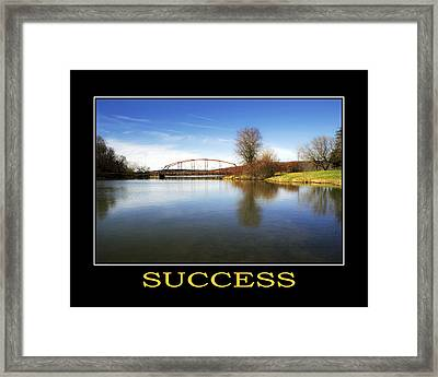 Success Inspirational Motivational Poster Art Framed Print by Christina Rollo