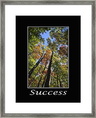 Success Inspirational Poster Framed Print