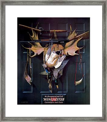 Successful Hunter  Door Art Framed Print