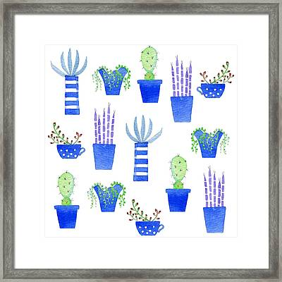 Succulents Framed Print by Nic Squirrell