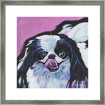 Such A Chinny Chin Chin Framed Print by Lea