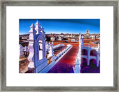 Sucre Convent Framed Print by Dennis Cox WorldViews