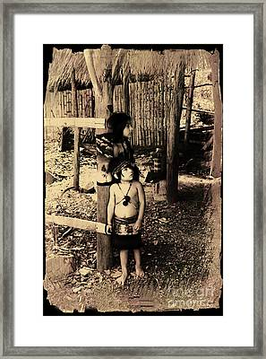 Framed Print featuring the photograph Sucua Kids 895 by Al Bourassa