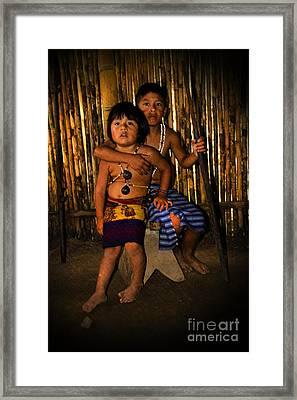 Sucua Kids 901 Framed Print by Al Bourassa