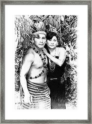 Framed Print featuring the photograph Sucua Shaman And Spouse by Al Bourassa