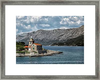 Sucuraj Lighthouse - Croatia Framed Print by Lindley Johnson