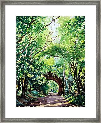 Sudbury Bridge And Trees Framed Print by Christopher Ryland