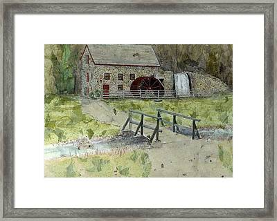 Framed Print featuring the painting Sudbury Gristmill by Lynn Babineau