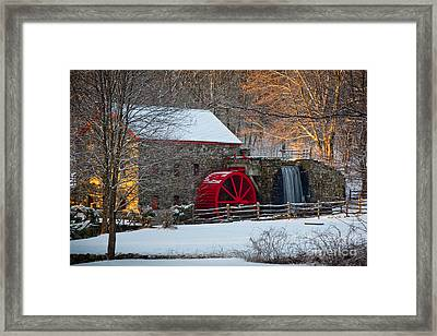 Sudbury Gristmill Framed Print by Susan Cole Kelly