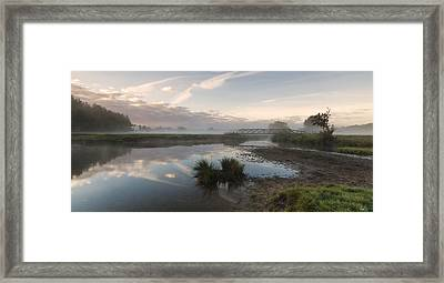 Sudbury Meadows Bridge Framed Print by Ian Merton