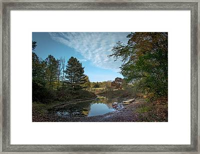 Sudbury River Boat Launch Framed Print by Jean-Louis Eck