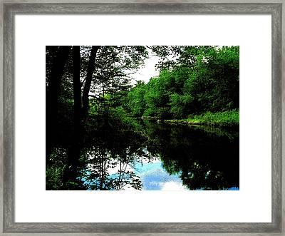Sudbury River In Ashland Framed Print