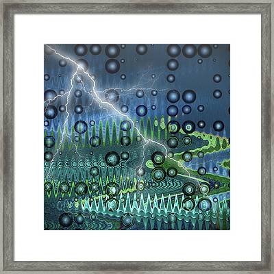 Sudden Storm Framed Print by Wendy J St Christopher