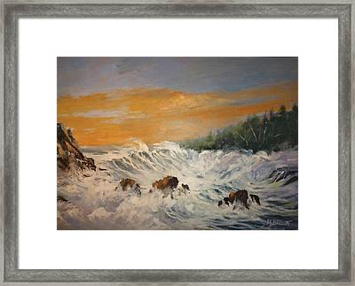 Sudden Turbulence At Suset Framed Print