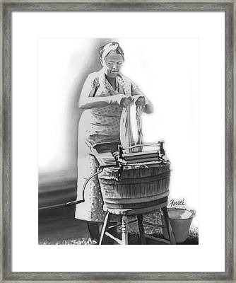 Framed Print featuring the painting Suds In The Bucket by Ferrel Cordle