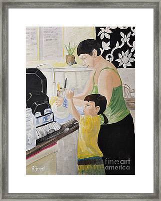 Sue And Loxy Framed Print by Reb Frost