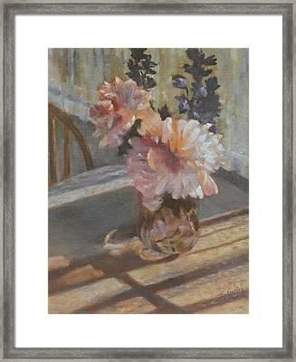 Sue's Peonies Framed Print by Rita Bentley