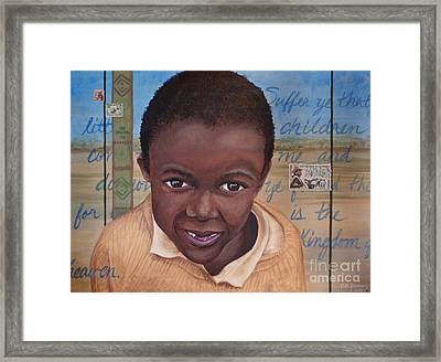 Suffer The Children Framed Print by Dee Youmans-Miller
