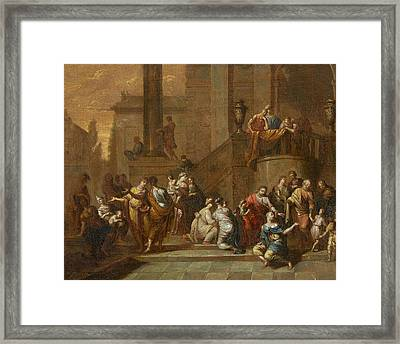 Suffer The Little Children To Come Unto Me Christ Framed Print