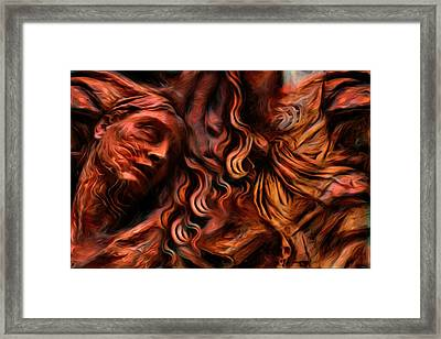 Suffering And Indifference - The Right To Dignity Framed Print by Daniel Arrhakis