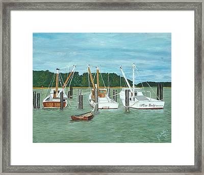 Suffolk Fishing Boats Framed Print by John Schuller