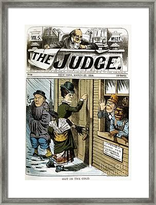 Suffrage Cartoon, 1884 Framed Print by Granger