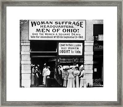 Suffrage Headquarters Framed Print by Granger