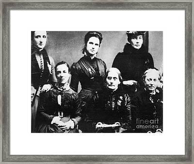 Suffragettes, 1888 Framed Print