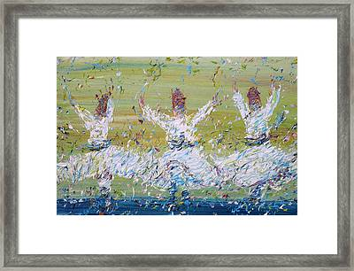 Sufi Whirling Framed Print