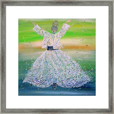 Sufi Whirling  - February 9,2015 Framed Print by Fabrizio Cassetta
