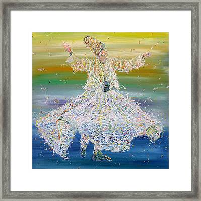 Sufi Whirling  - January 27,2015 Framed Print by Fabrizio Cassetta