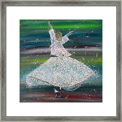Sufi Whirling  - January 29,2015 Framed Print by Fabrizio Cassetta