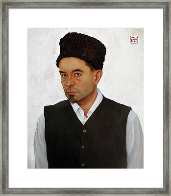 Sufi With Astrakhan Hat Framed Print