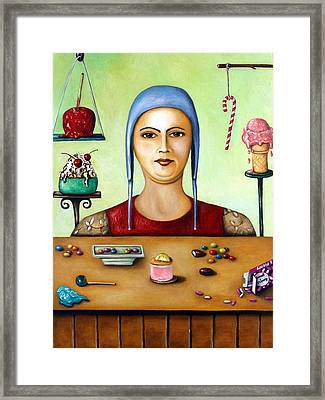 Sugar Addict Framed Print by Leah Saulnier The Painting Maniac
