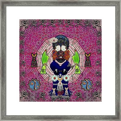 Sugar And  Floral  Skull Looking Good Framed Print by Pepita Selles
