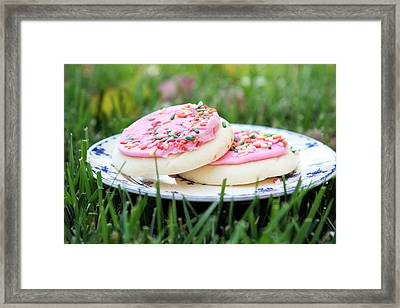 Sugar Cookies With Sprinkles Framed Print by Linda Woods