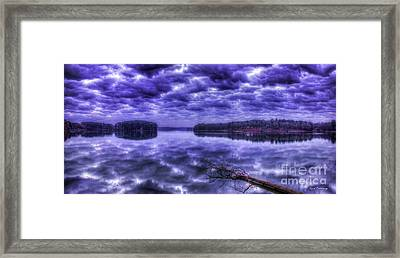 Framed Print featuring the photograph Sugar Creek Reflections Lake Oconee Georgia Art by Reid Callaway