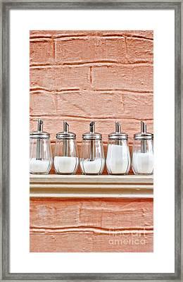 Sugar Dispensers Framed Print
