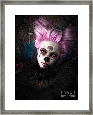 Sugar Doll Pink Framed Print by Shanina Conway