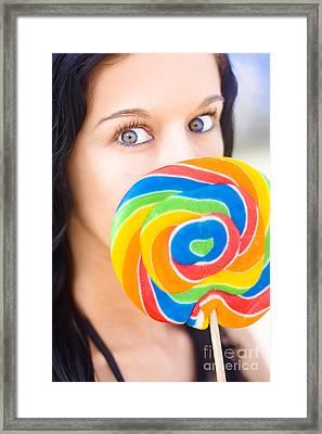 Sugar High Framed Print