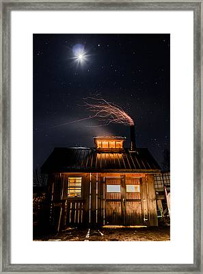 Sugar House At Night Framed Print by Tim Kirchoff
